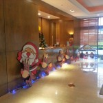 Our lobby front desk.  Please notice the traditional Santa Claus/Mrs. Claus in the nativity scene.