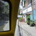 View from inside the tricycle.