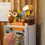 Vending machine to get time with the owls.