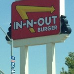 Road Tripping - our first in - n - out burger, not bad.