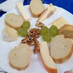 Cheese plate at an Alsatian festival.
