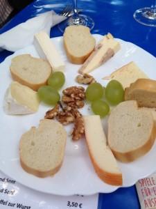 Cheese plate at an Alsatian festival.